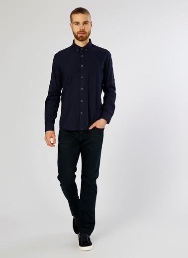 T-Box Uzun Kollu Gömlek Lacivert